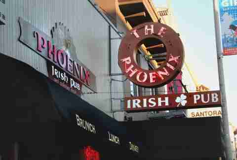 exterior of Phoenix Irish Pub