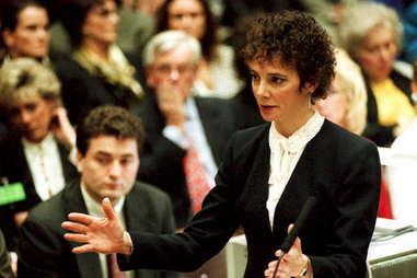 Marcia Clark curly hair at OJ Simpson trial