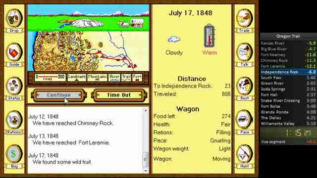 Oregon Trail screenshot