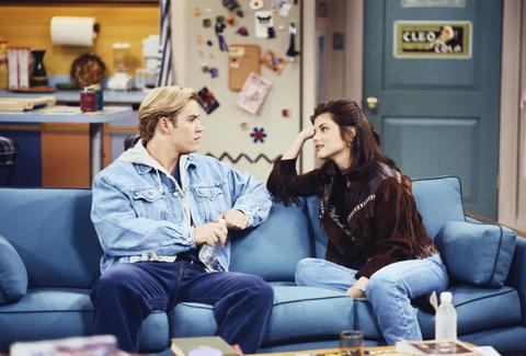 Mark-Paul Gosselaar as Zack Morris, Tiffani Thiessen as Kelly Kapowski