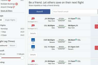 Flights from JFK to Norway