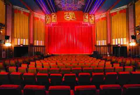 inside the coolidge corner movie theatre in brookline boston