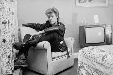 Daryl Hall of Hall & Oates sits in his hotel room