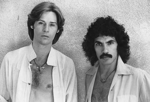 Archival image of Hall & Oates from 1977