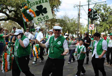 irish channel parade