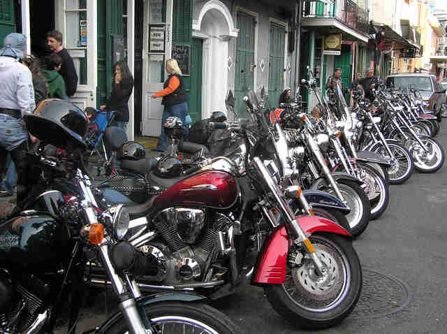 st. patricks day bike night, motorcycles
