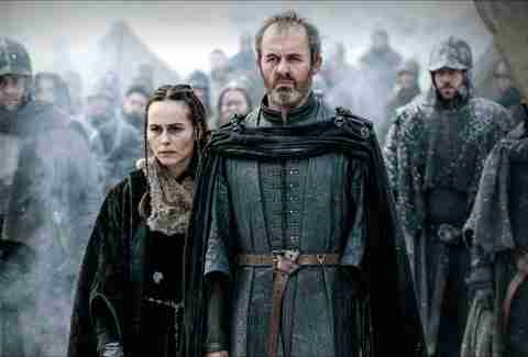 Stannis Baratheon and Melisandre Game of Thrones HBO show