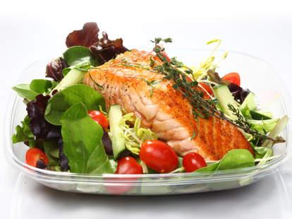 Anton & James, salmon and salad