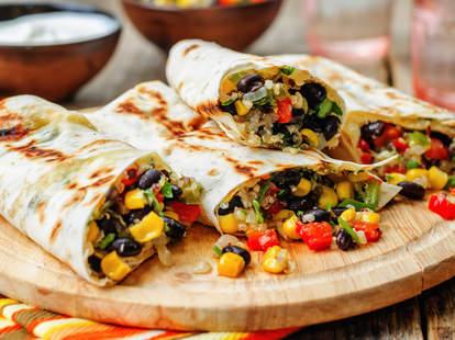 vegan burrito, vegetable burrito