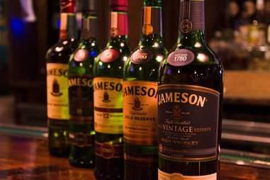 Bottles of Jameson at Tim Finnegan's