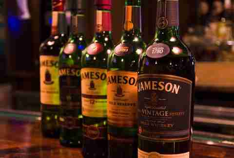 Bottles of Jameson at Tim Finnegan's