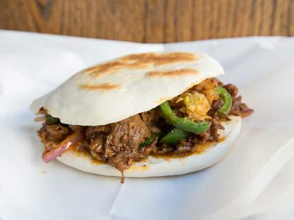 spicy cumin lamb burger, xi'an famous foods