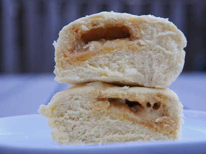 salted pork bun, Golden Steamer, New York City Chinatown