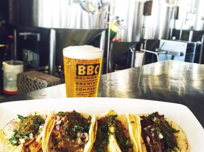 Belmont Brewing Company beer tacos los angeles