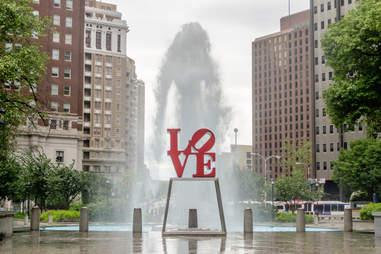 Love Park, Love Park Fountain, Love Park Philly