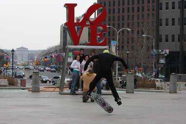 Love Park, Love Park Skateboarding