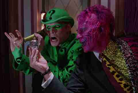 Batman Forever, Riddler, Two-Face, Tommy Lee Jones, Jim Carrey