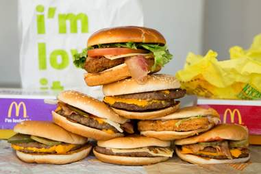 burgers from McDonalds
