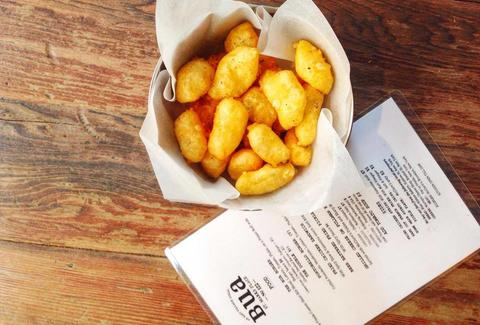 Bua, fried cheese curds, New York Irish Bars