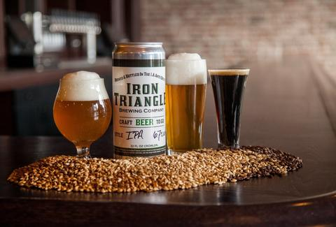 Iron Triangle Brewing DTLA drinks