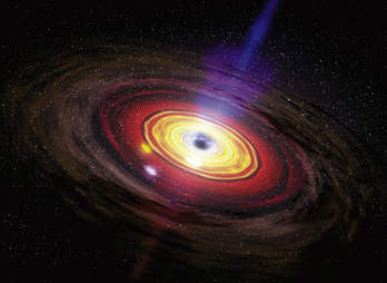 rendering of a black hole