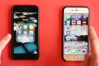 one slow iphone versus fast iphone
