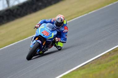 motorcycle racer at MotoGP