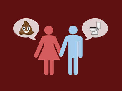 couple talking about poop