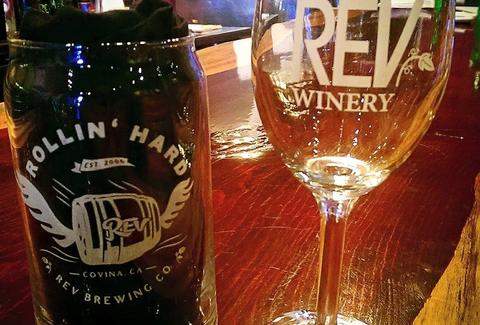 REV Brewing Co and winery los angeles ca wine glass