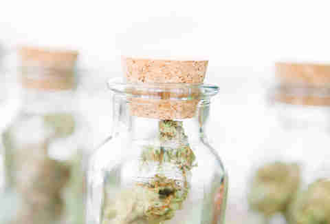 jars of marijuana weed cannabis