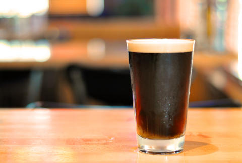 stout draft, beer, beer glass