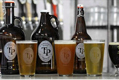Timeless Pints Brewing Company la ca beer glasses local