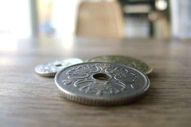 Kroner Danish currency money