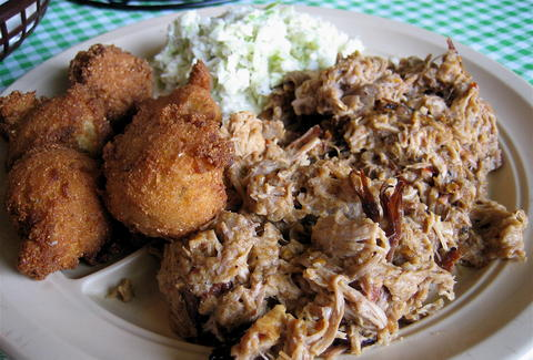allen & son bbq chapel hill nc pulled born hush puppies