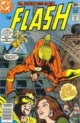 The flash comic book cover golden glider