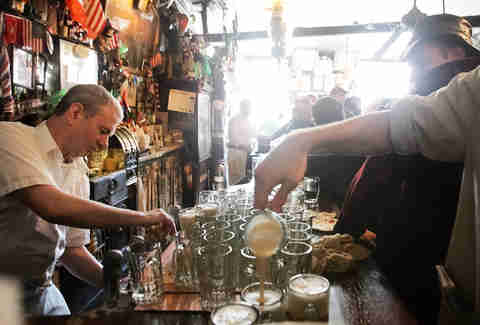 McSorley's Interior Beer Pouring