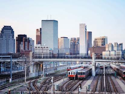boston mbta skyline cityscape