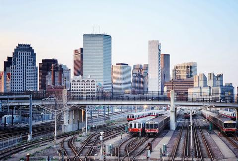 boston mbta skyline cityscape