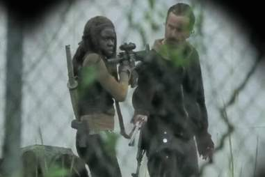 Rick and Michonne The Walking Dead AMC