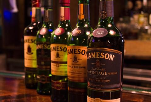 bottles of jameson