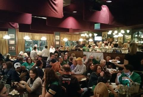 Mullaney's Harp and Fiddle Irish Pub pitts pa interior crowd
