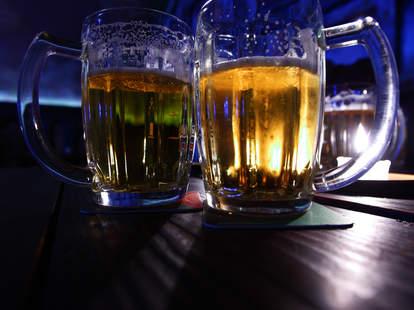 two pints of beer irish bar