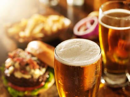 beer, burgers
