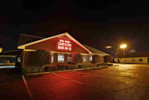 exterior of Big Bob Gibson Bar-B-Q