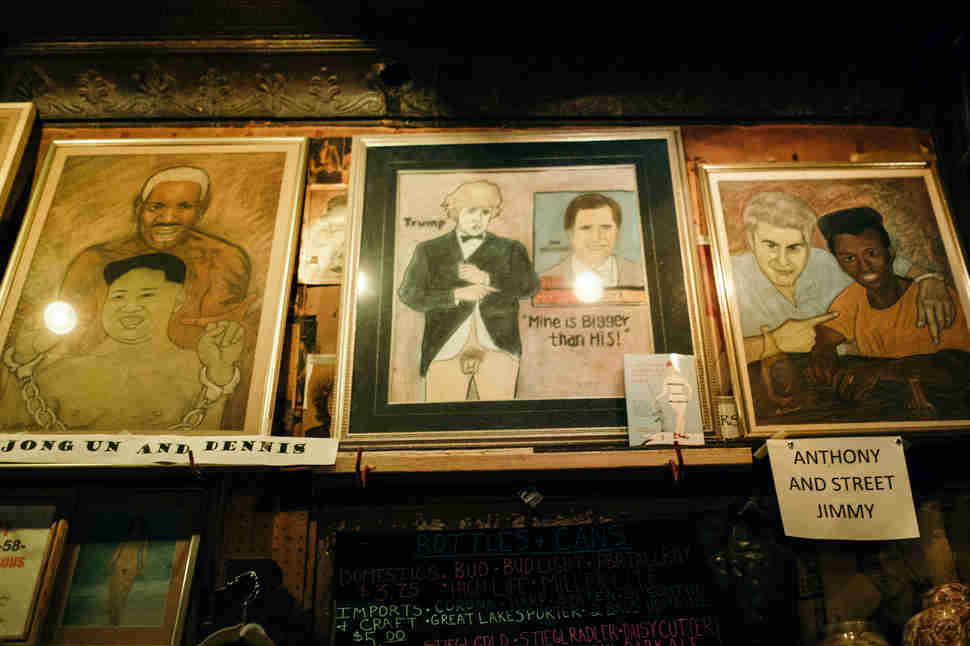paintings in Old Town Ale House