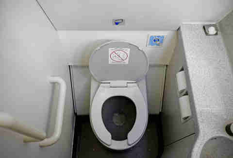 airplane bathroom toilet