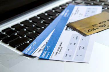 plane tickets with credit card