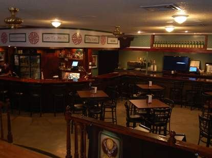 The Celtic Knot Pub interior dark