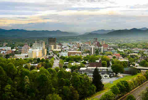 Asheville, North Carolina skyline