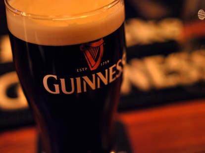Pint of Guinness beer